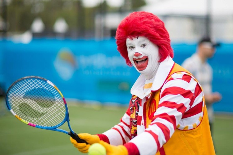 McDonald's Mobile Food Truck at the Brisbane International Tennis Tournament