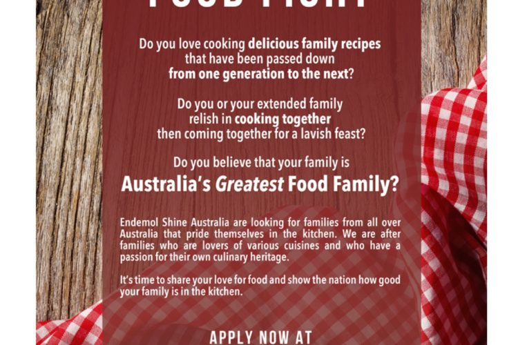Channel Nine's Family Food Fight | Applications Close 12th May